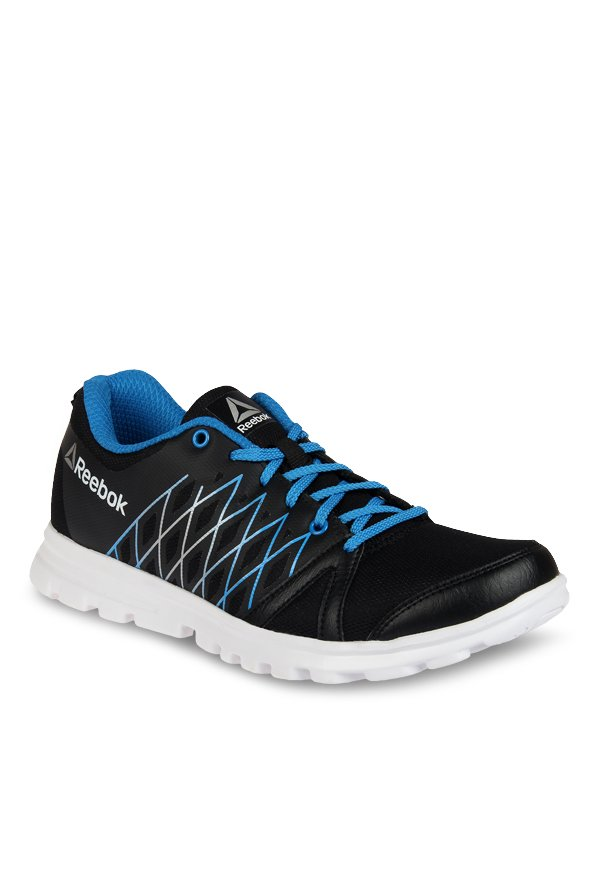 Buy Reebok Pulse Run LP Black   Cycle Blue Running Shoes for Men at Best  Price   Tata CLiQ a887dffd5