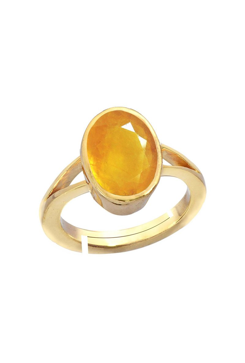 yellow jupiter sapphire ring and diamond