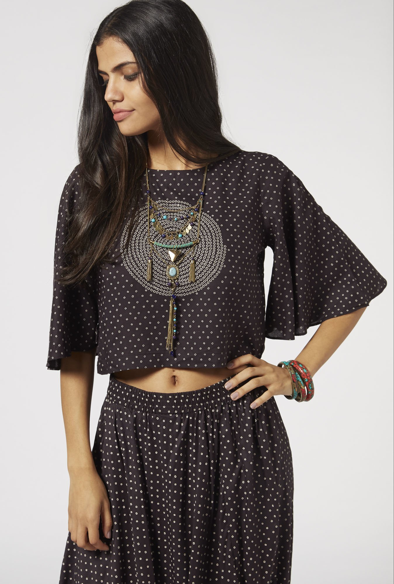 Bombay Paisley by Westside Charcoal Blouse