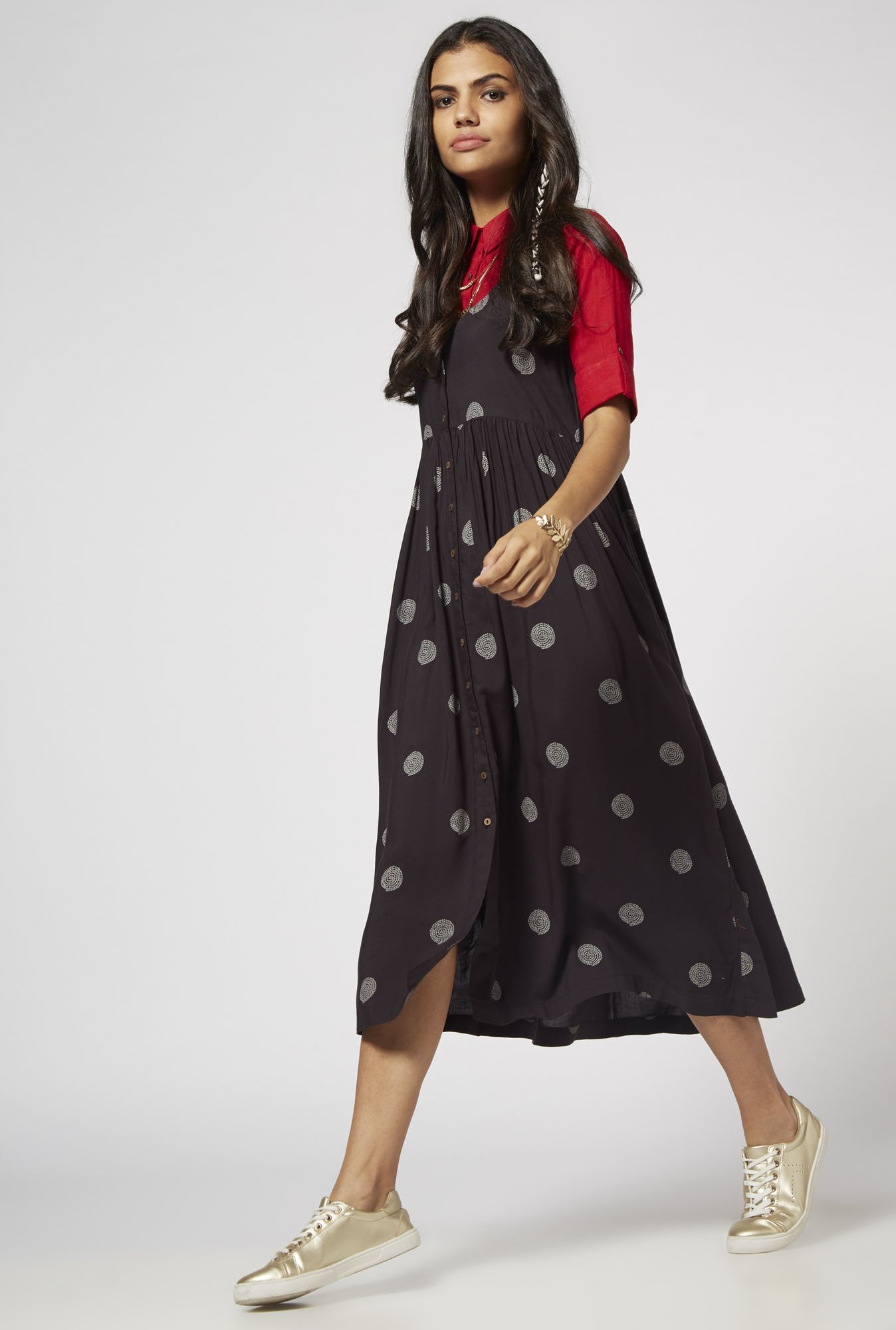 Bombay Paisley by Westside Charcoal Dress