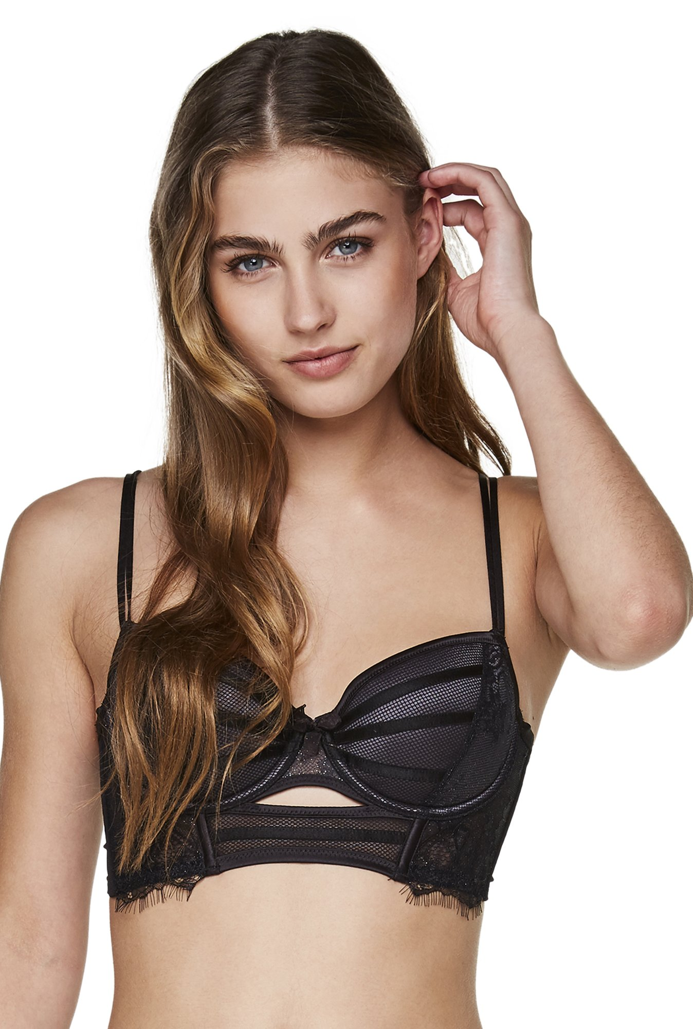 Hunkemoller Caviar Under Wired Padded Josie Balconette Bra