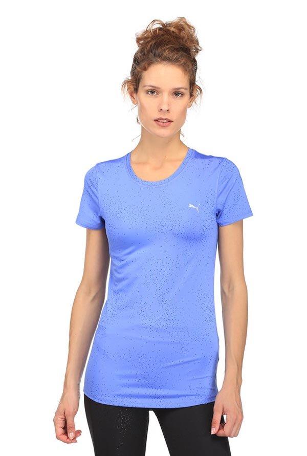 f88af2dbced Buy Puma Blue Printed Essential T-Shirt for Women Online @ Tata CLiQ