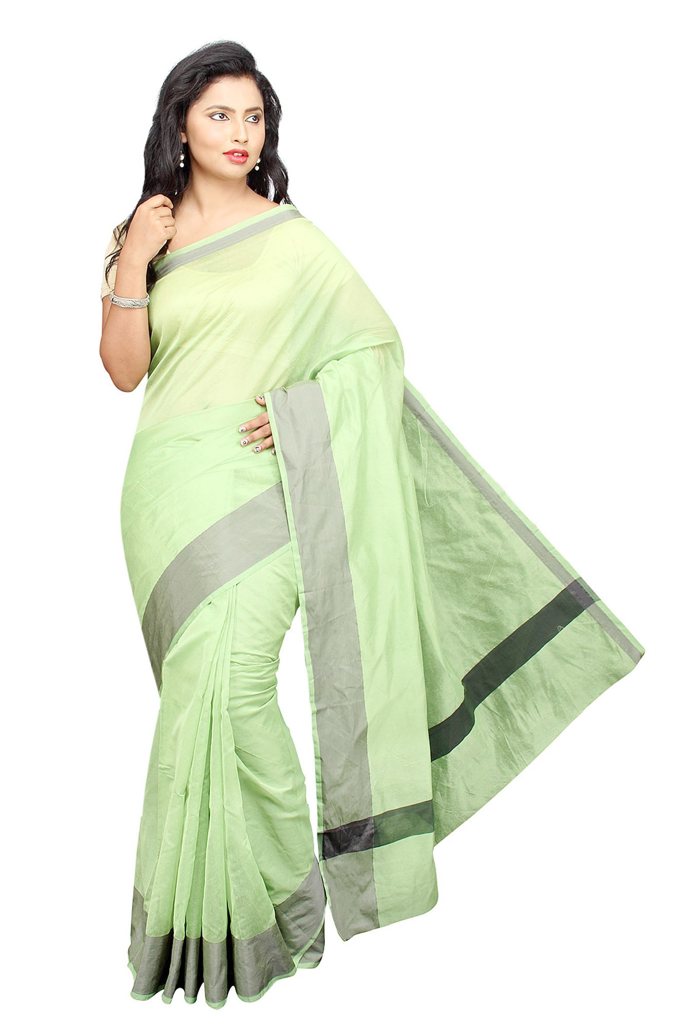 Pavecha's Green Cotton Silk Banarasi Saree