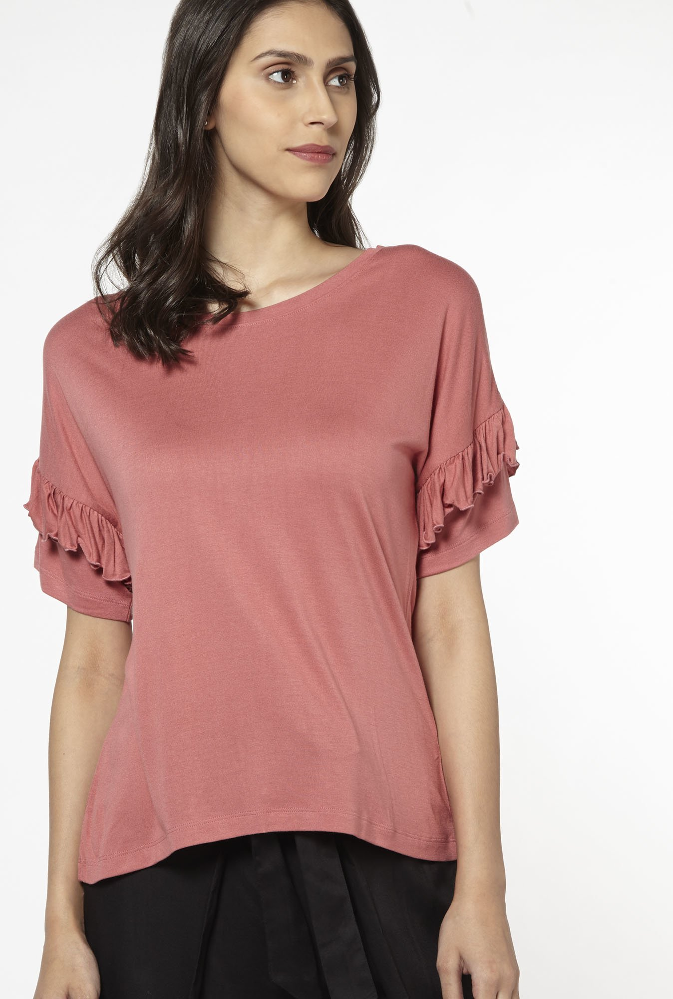 LOV by Westside Dull Pink Clarise Top