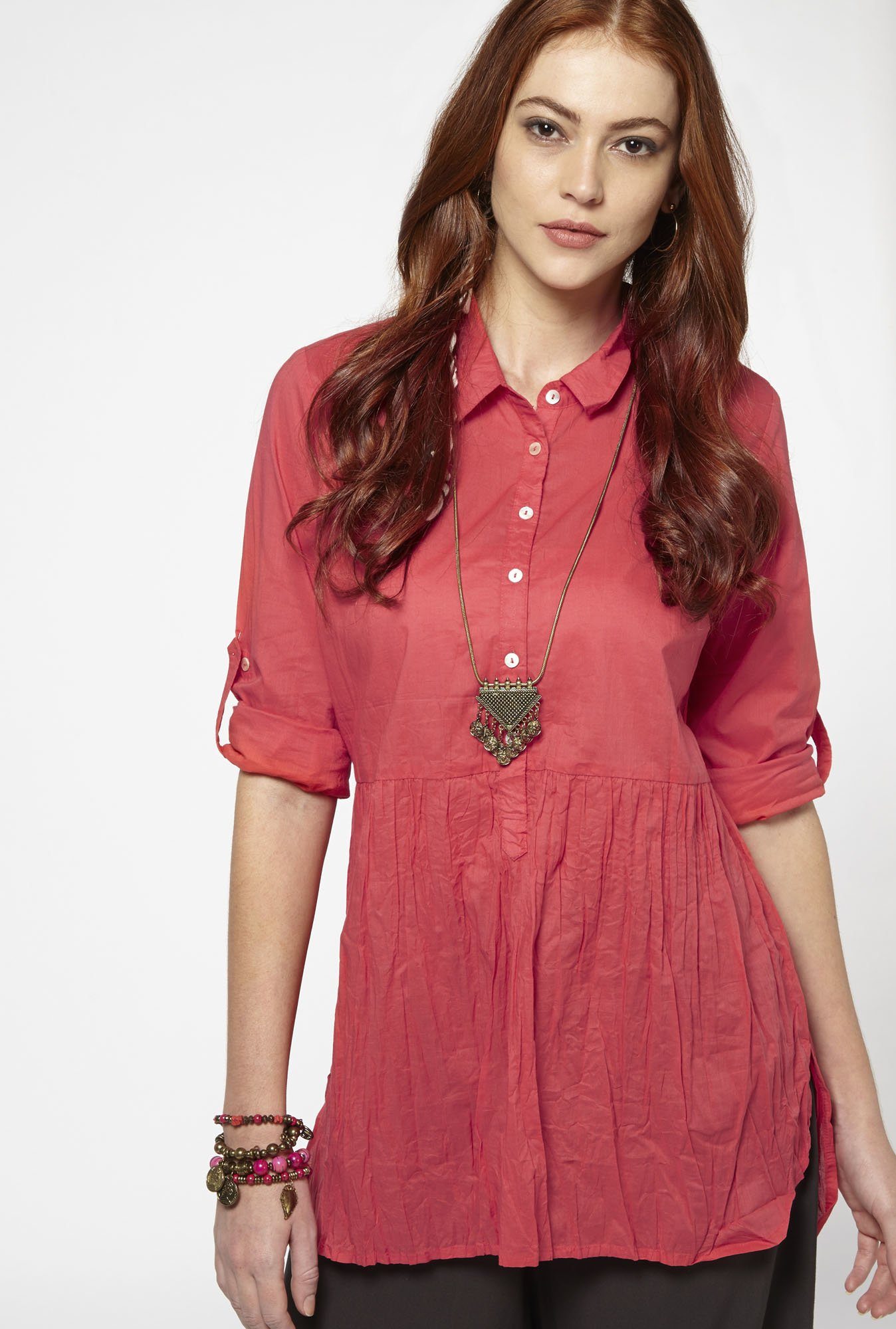Bombay Paisley by Westside Bright Pink Tunic
