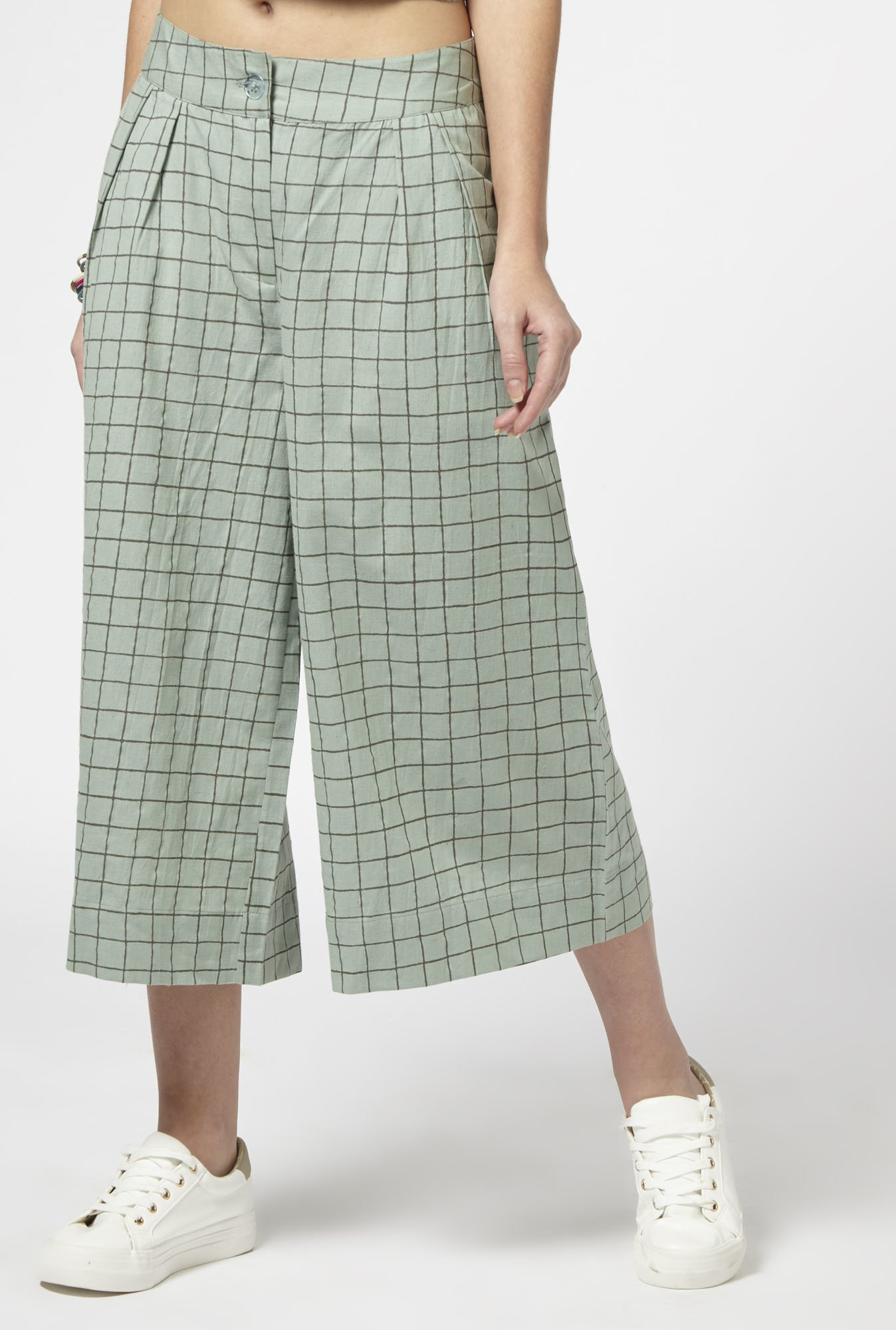 Bombay Paisley by Westside Light Green Culottes