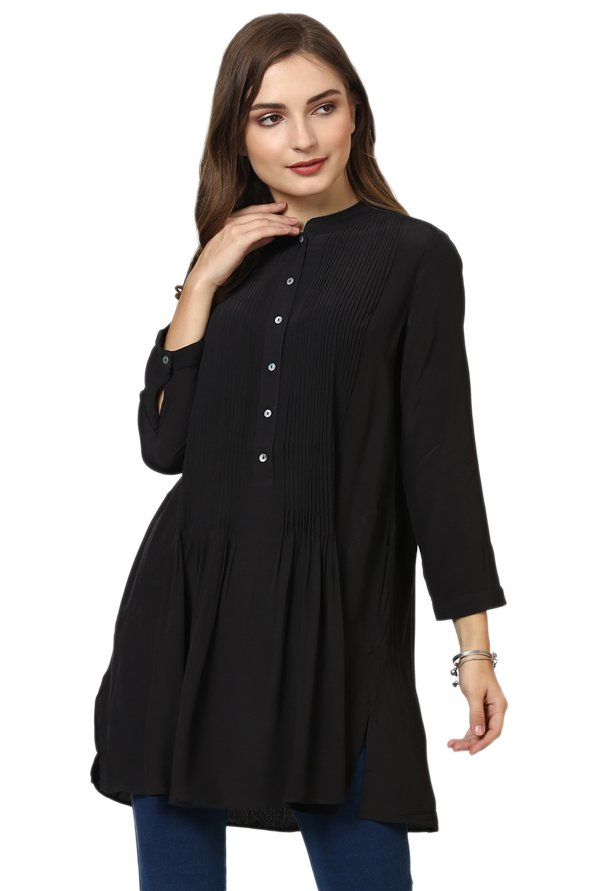 Label Ritu Kumar Black Relaxed Fit Top