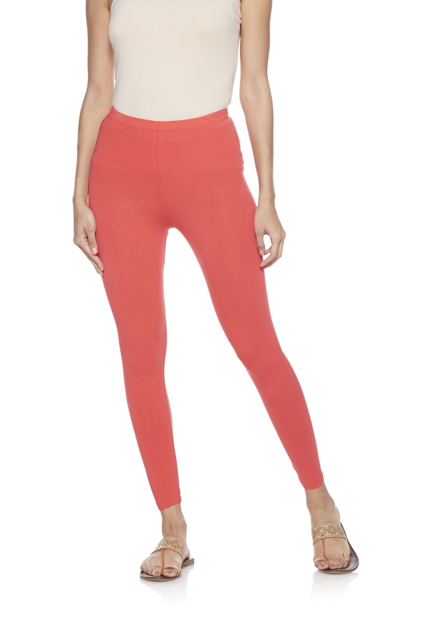 Utsa by Westside Coral Cropped Leggings