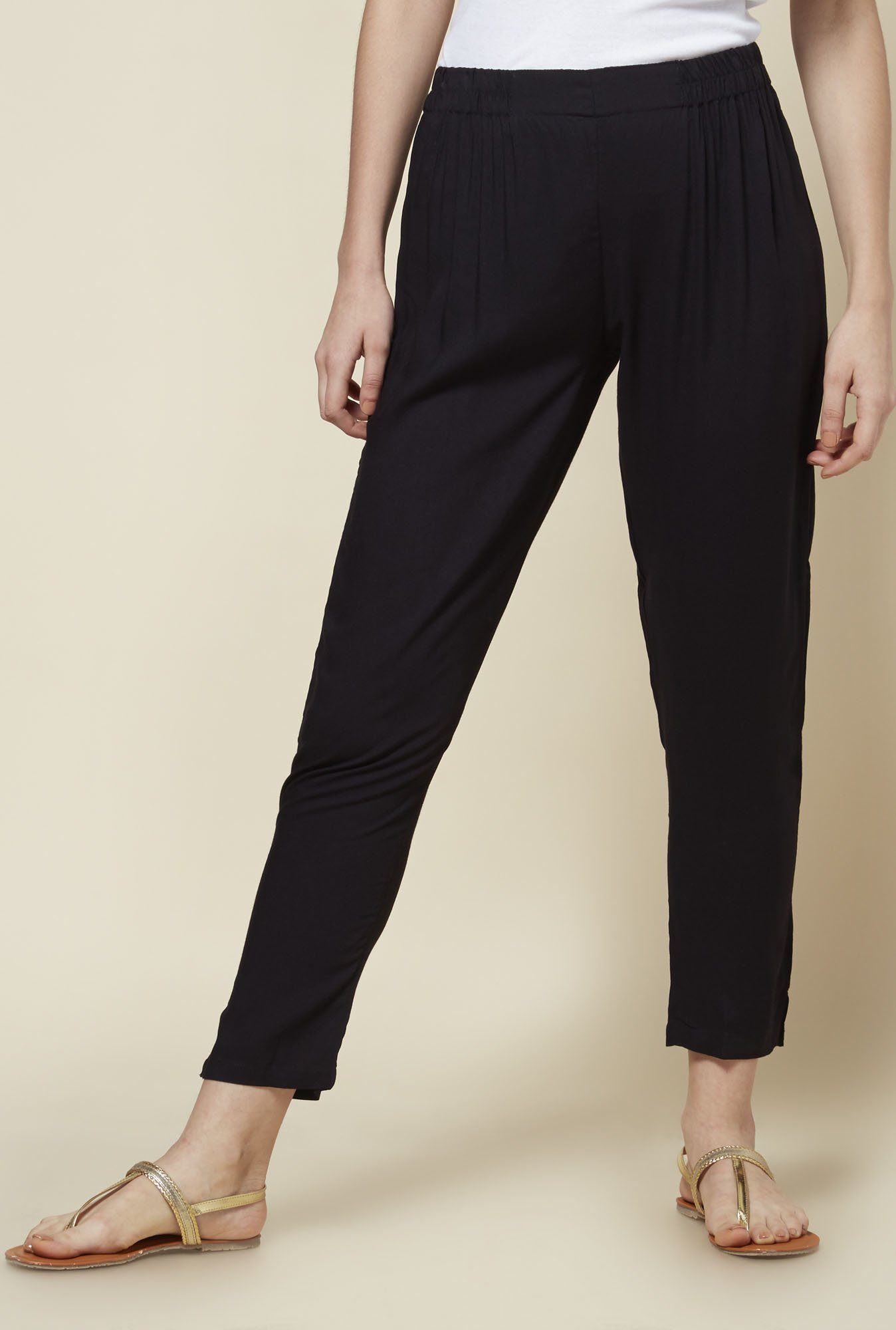 Zudio Black Cigarette Pants