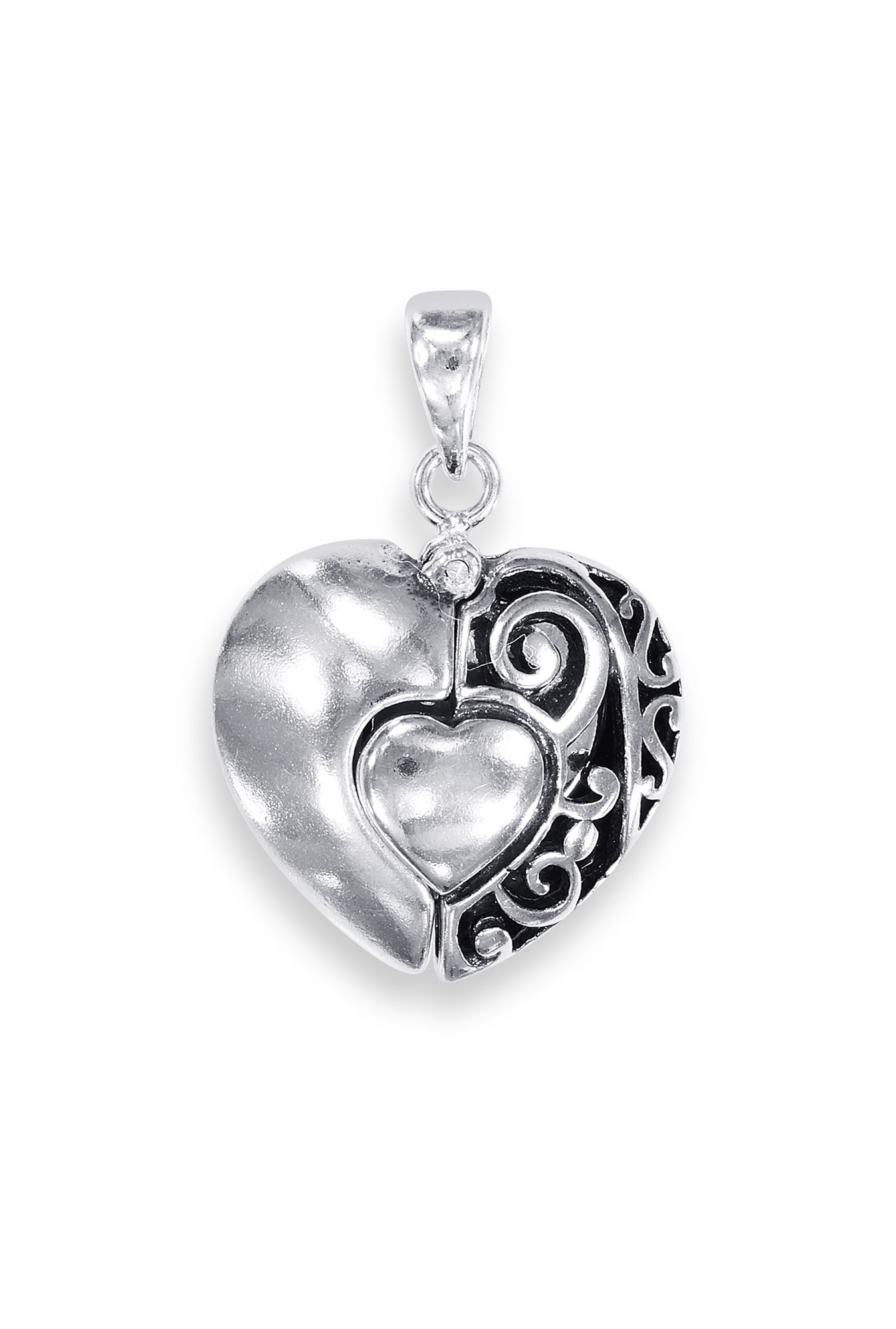 plated with valentine austrian sukkhi openable crystal heart graceful rhodium chain products pendant