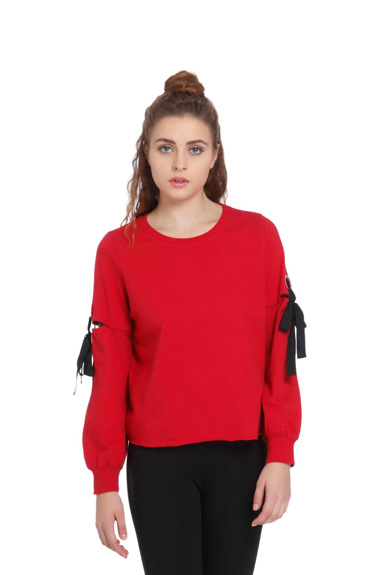 Only Red Full Sleeves Sweatshirt