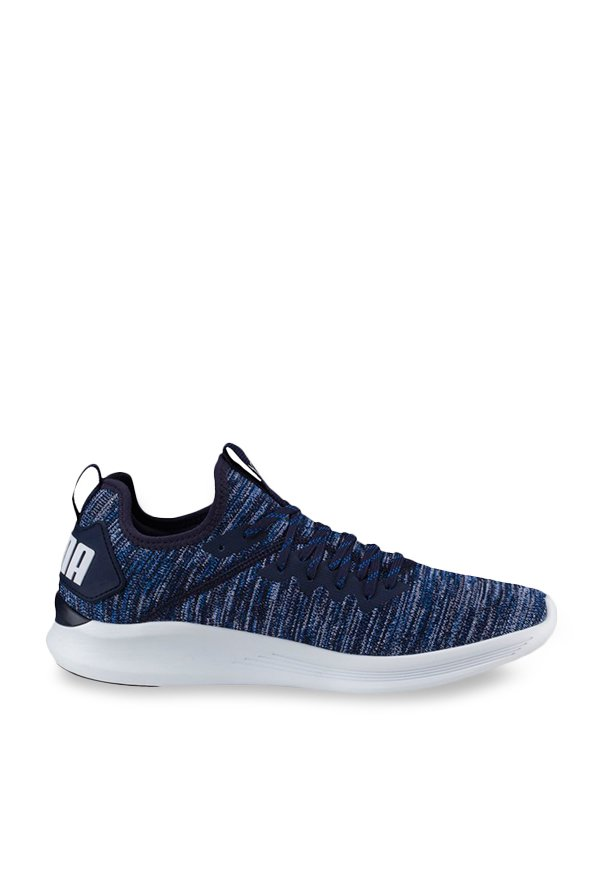 separation shoes c3a9b 37218 Buy Puma Ignite Flash evoKNIT Peacoat & Blue Running Shoes ...