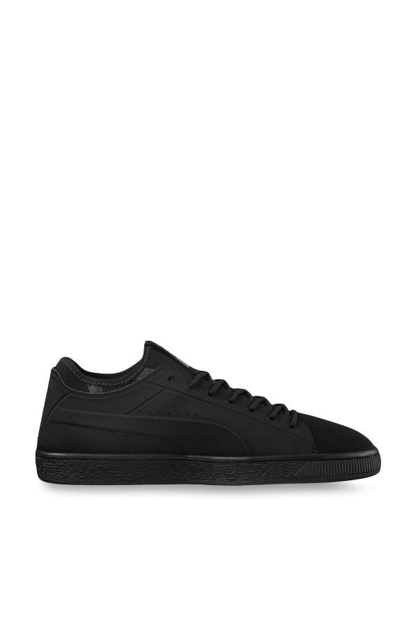 big sale ad2dc 3f85a Buy Puma Basket Classic Sock Lo Black Sneakers for Men at ...