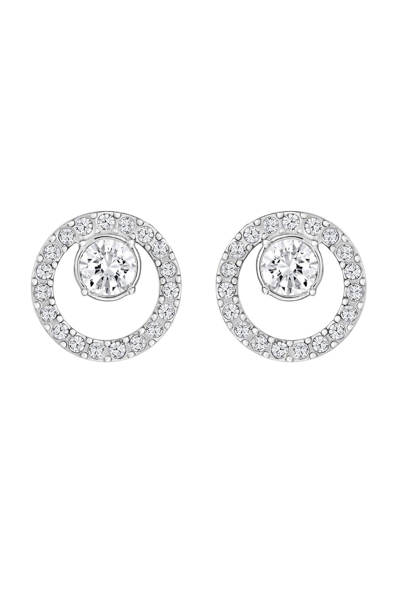 63c7e8972 Buy Swarovski Creativity Circle Silver Stud Earrings Online At Best Price @  Tata CLiQ