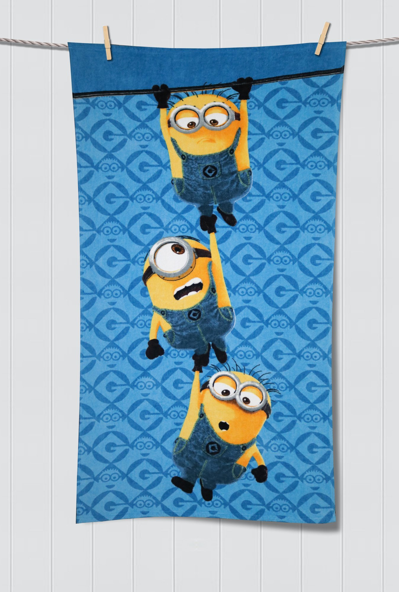 Buy spaces minions blue yellow cotton wool kids bath towel online at best  price tata cliq 2e36f0dd2798