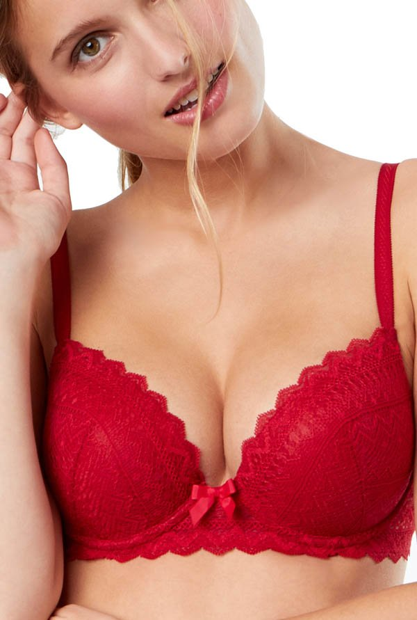 ETAM Paris Red Icon Classique Under-Wired Padded T-Shirt Bra