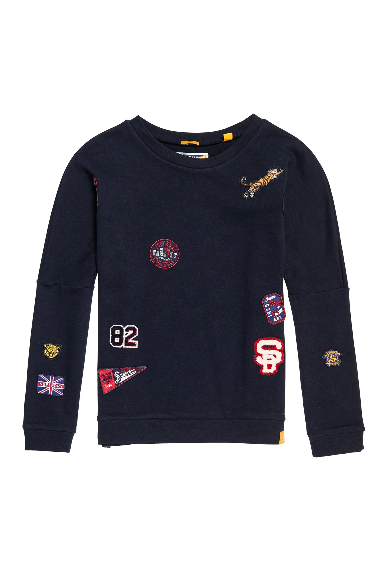 Superdry Navy Patchwork Sweatshirt