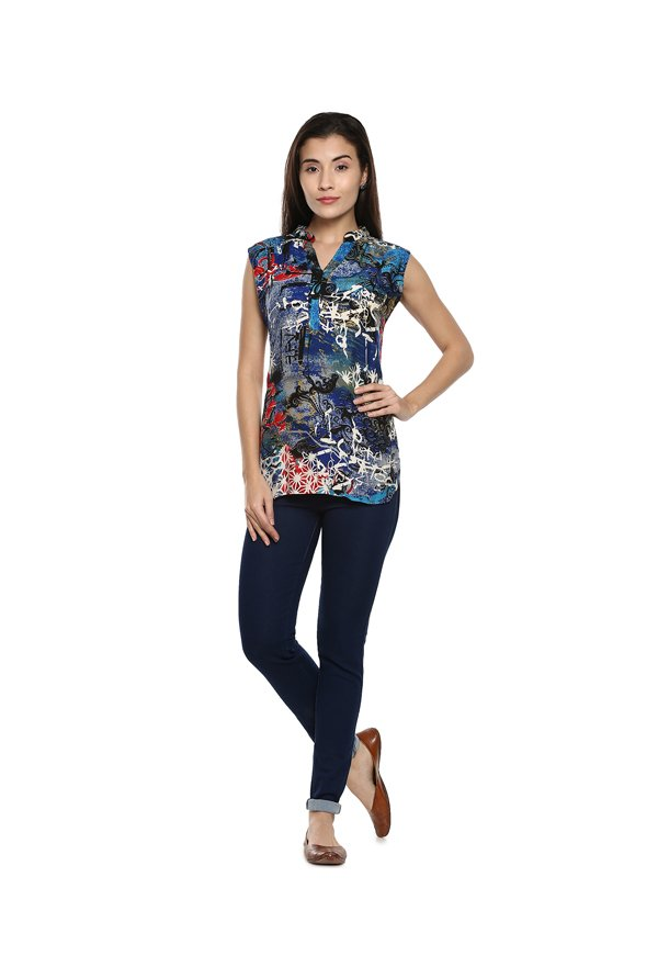Soch Blue Printed Tunic