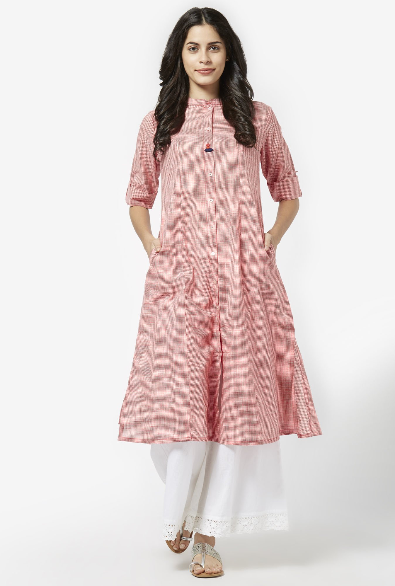 Utsa by Westside Red Pure Cotton Kurta