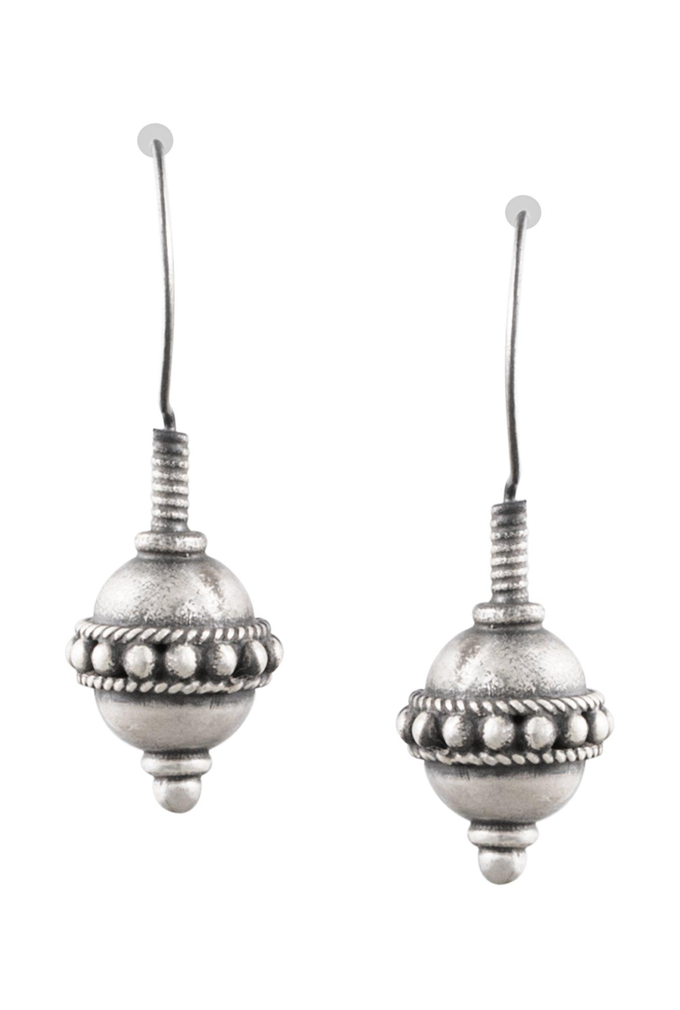 Ahilya Jewels Round 925 Silver Earrings