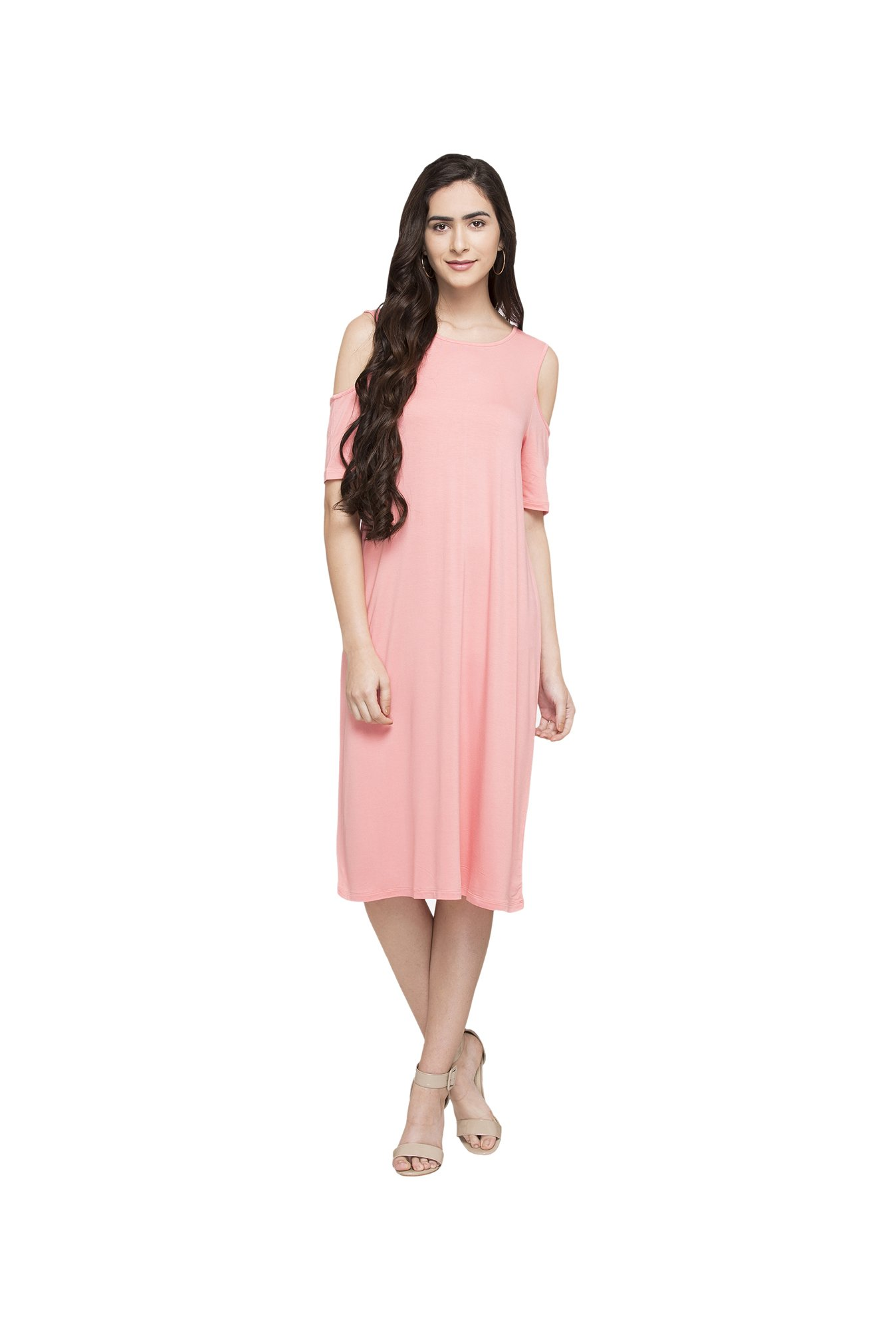 Globus Pink Below Knee Dress
