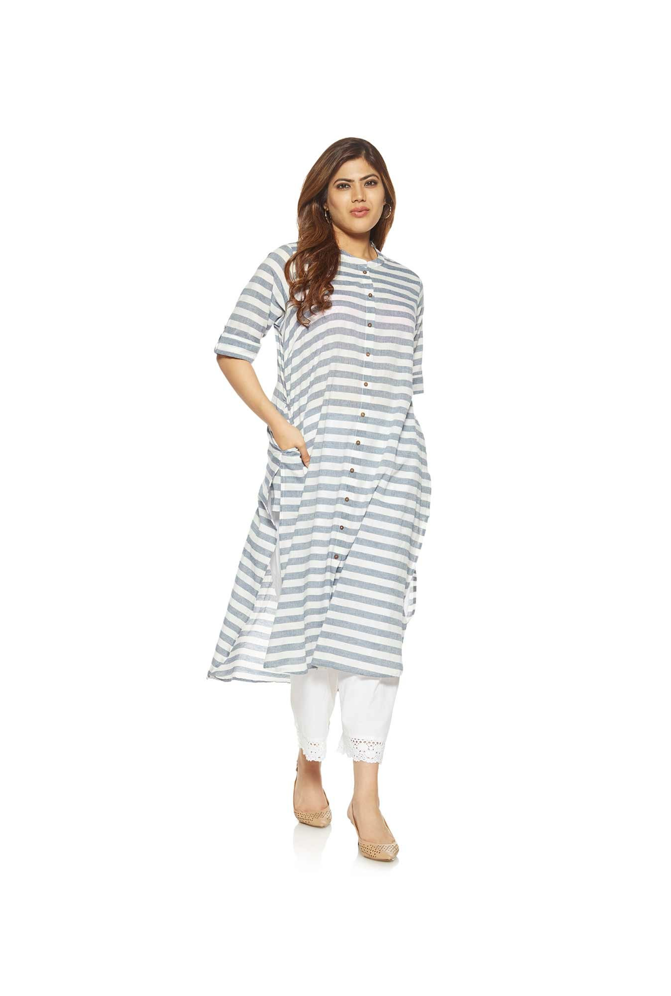 Diza curve by Westside Indigo Pure Cotton Kurta