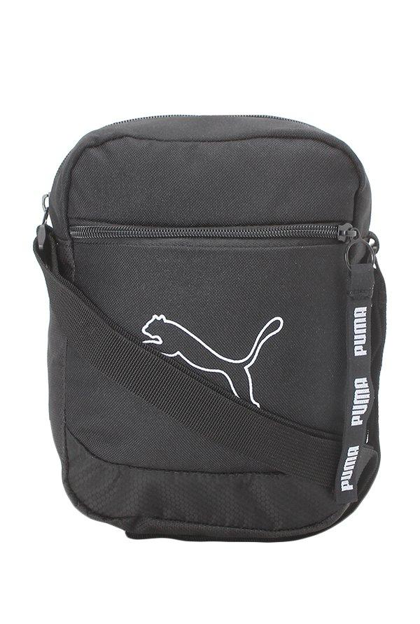 8ce1f27f847b Buy Puma Echo Black Textured Polyester Sling Bag Online At Best Price   Tata  CLiQ