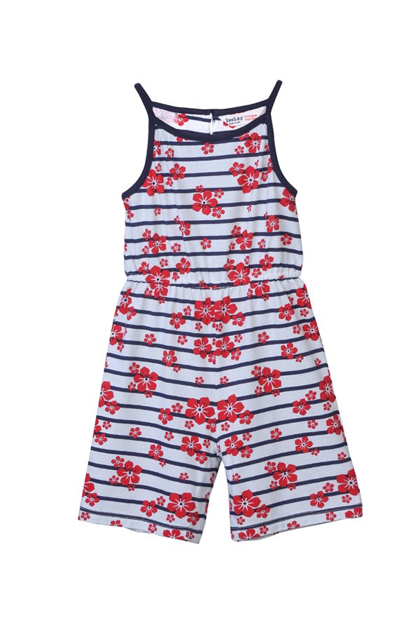 3d09677f1eaa9 Buy Beebay Blue & Red Printed Jumpsuit for Infant Girls Clothing ...
