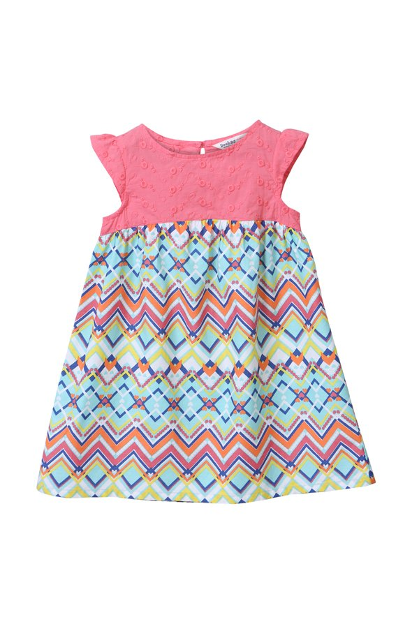 33fd1a3681744 Buy Beebay Pink & Blue Printed Dress for Infant Girls Clothing Online ...