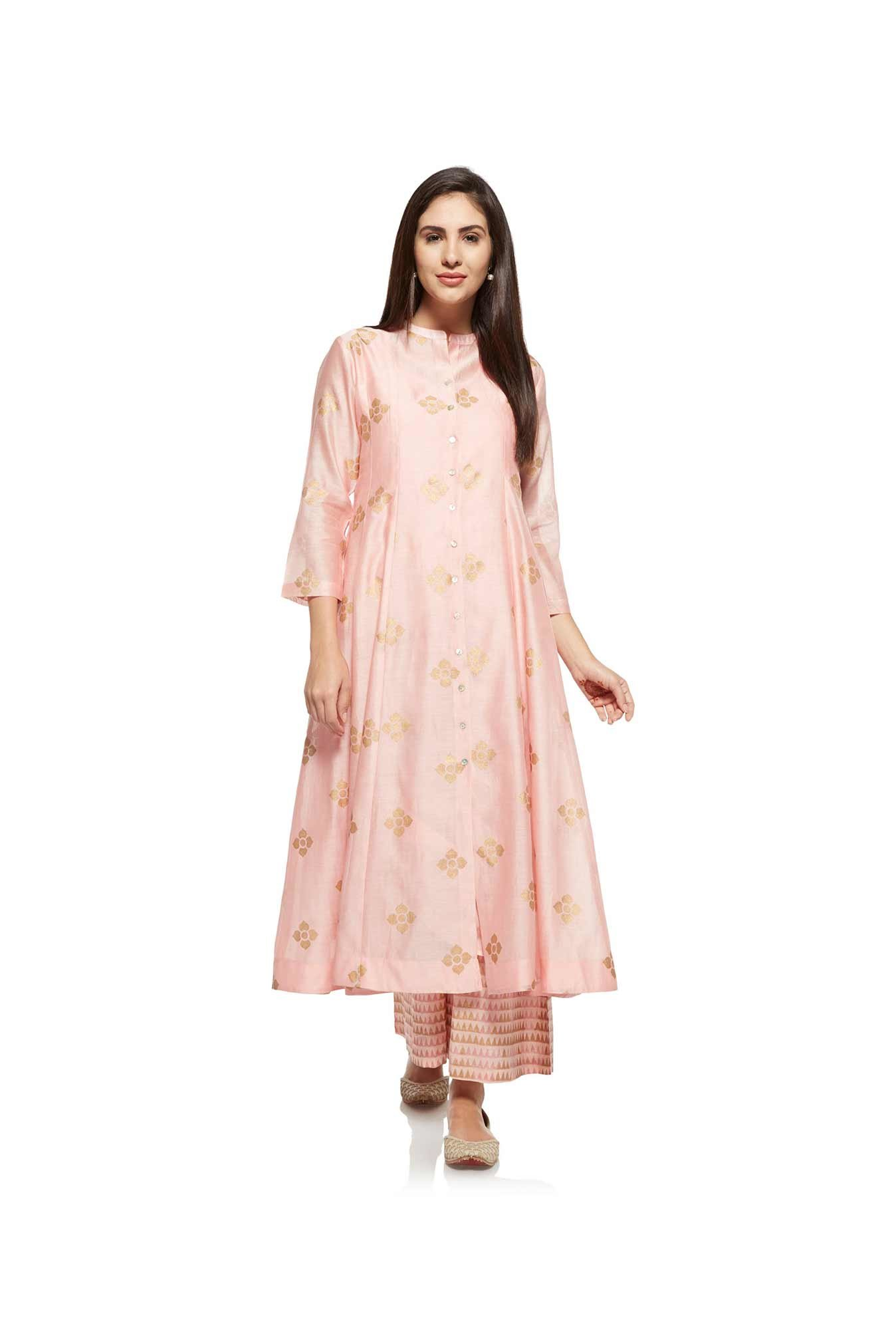 Zuba by Westside Light Pink Kurta with Chemise