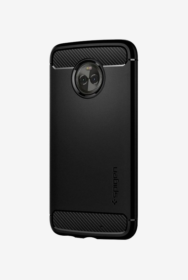 more photos 9d465 0fe36 Buy Spigen Armor Back Case Cover for Motorola Moto X4 (Black) Online ...