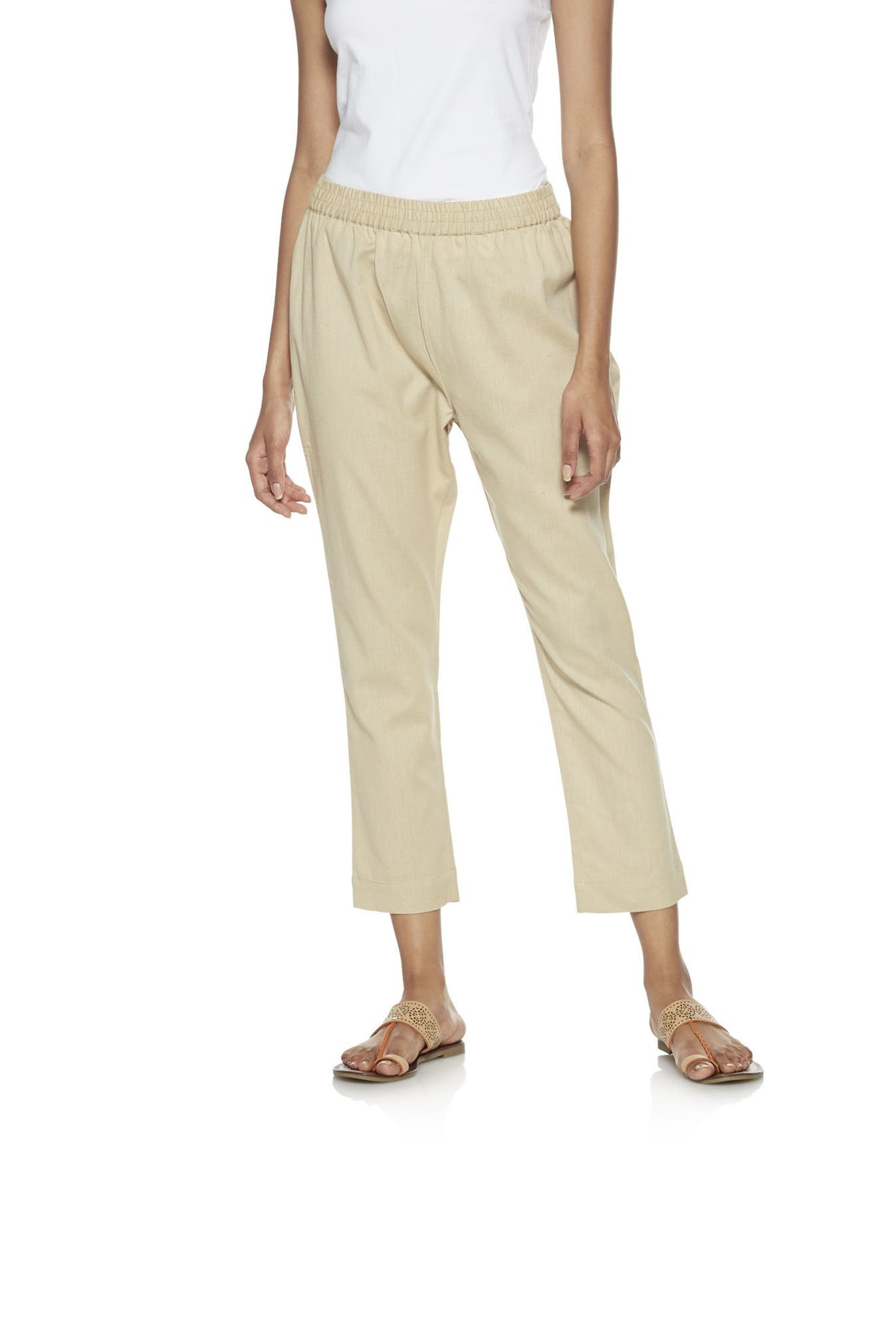 Utsa by Westside Beige Ethnic Pants