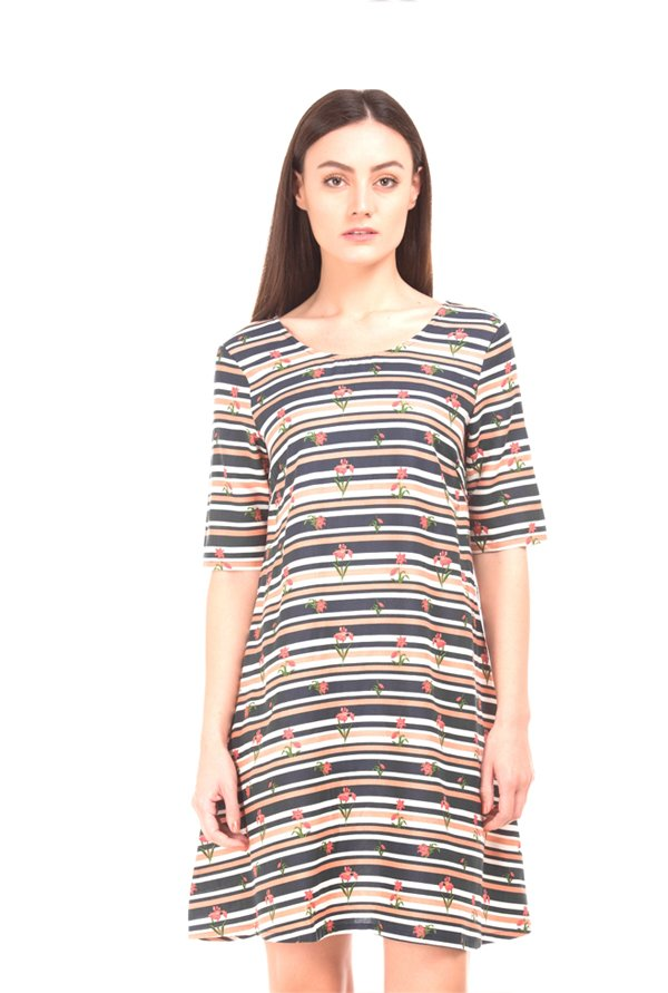 Elle Multicolor Printed Mini Dress