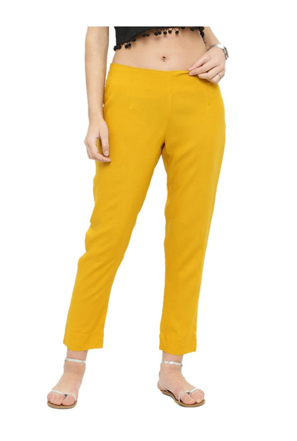 Varanga Yellow Straight Fit Pants