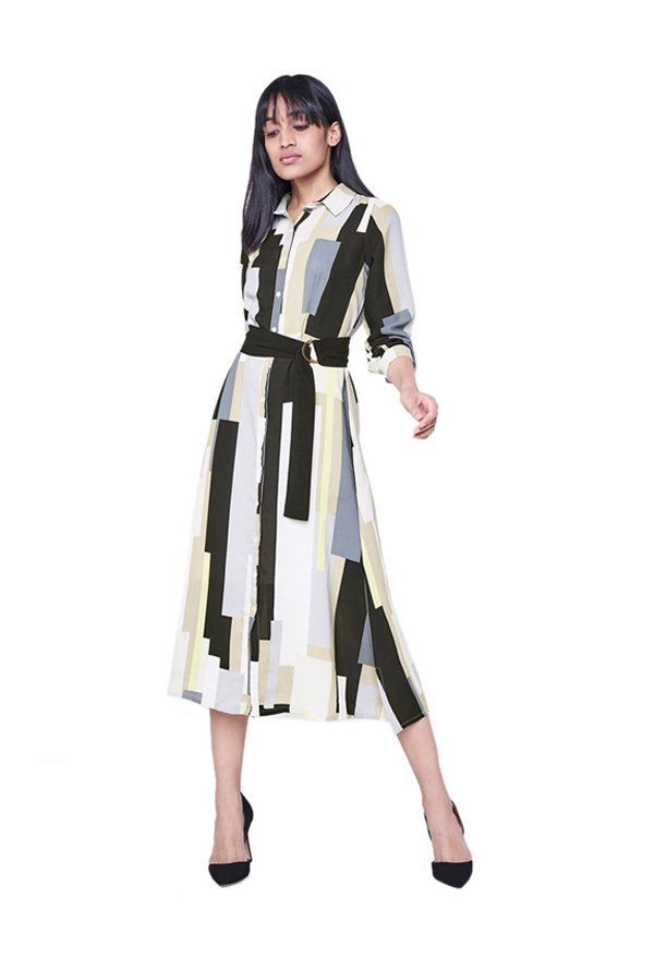 AND Multicolor Printed Midi Dress