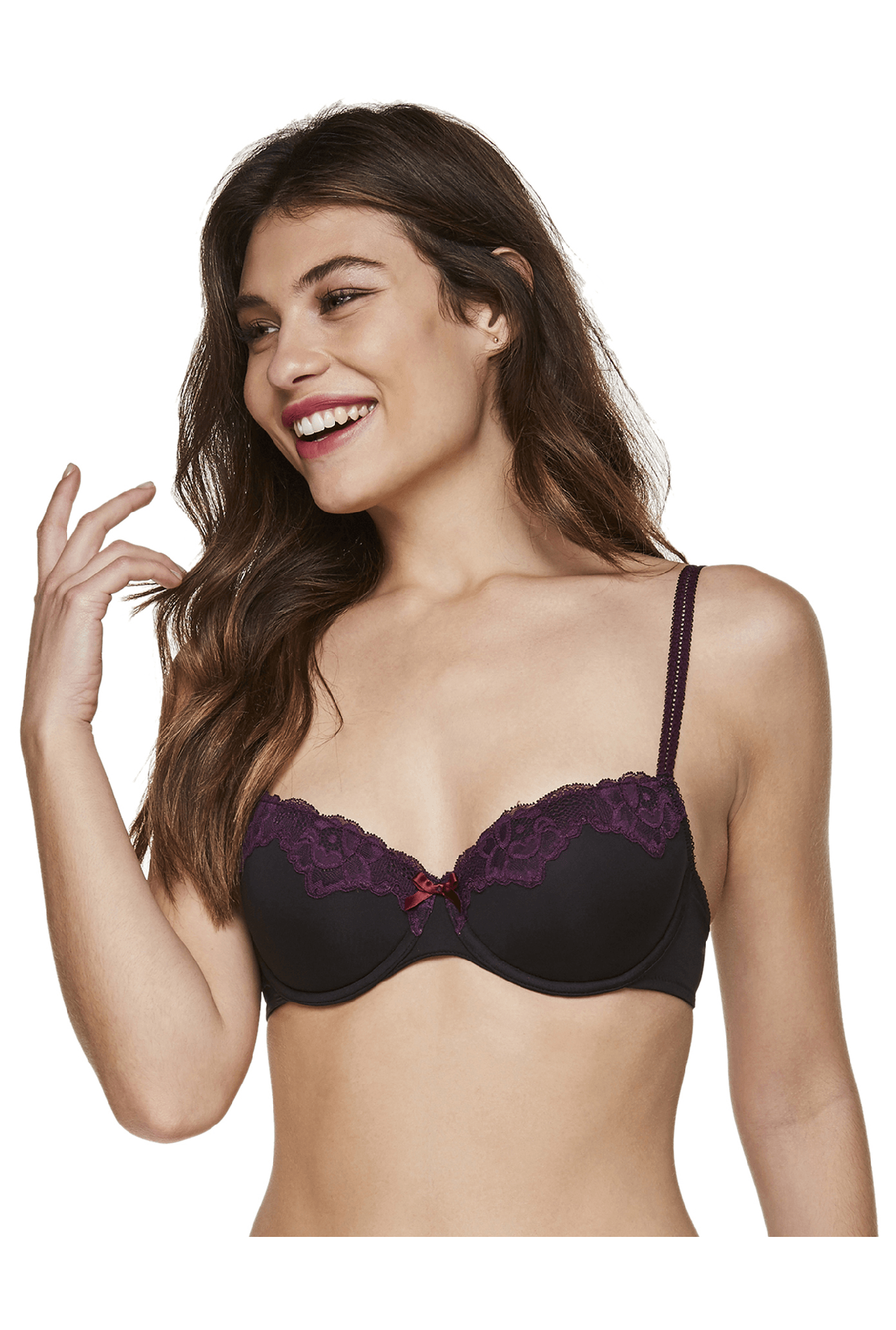 Hunkemoller Caviar Under Wired Secret Balconette Bra