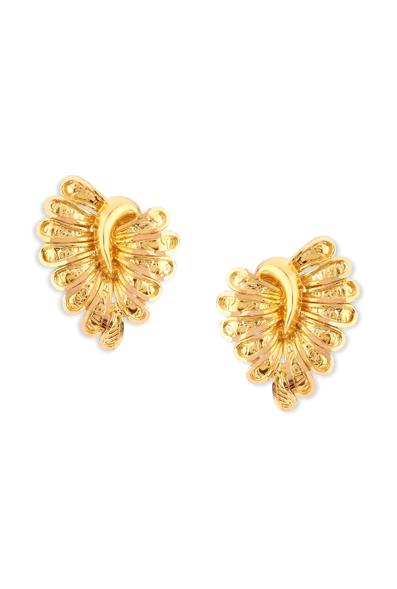 whp gold floral larger buy jewellers online l jhumki layered earrings view earring senco