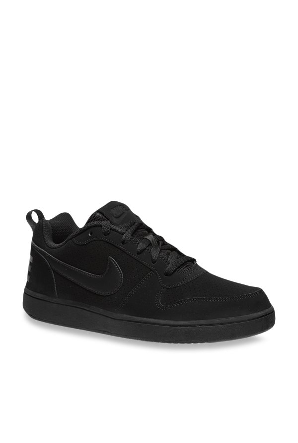1f0f7f586aee9b Buy Nike Court Borough Low Black Sneakers for Men at Best Price ...