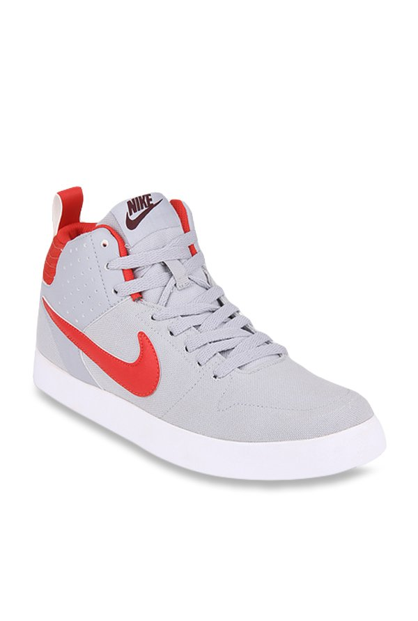 Buy Nike Liteforce III Mid Light Grey   Red Ankle High Sneakers for Men at  Best Price   Tata CLiQ 241c75399
