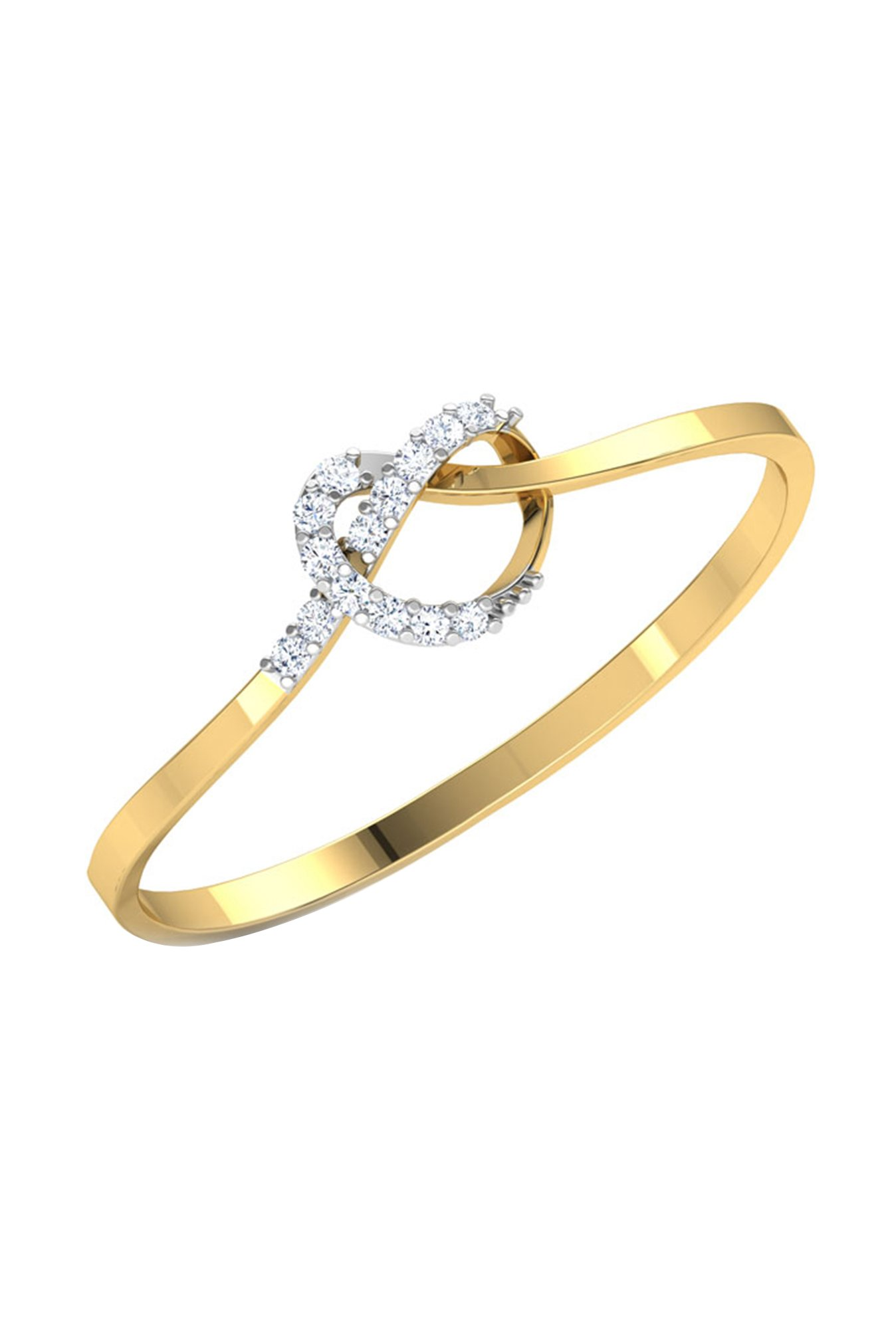 ring pave diamond solitaire knot forevermark degem encordia