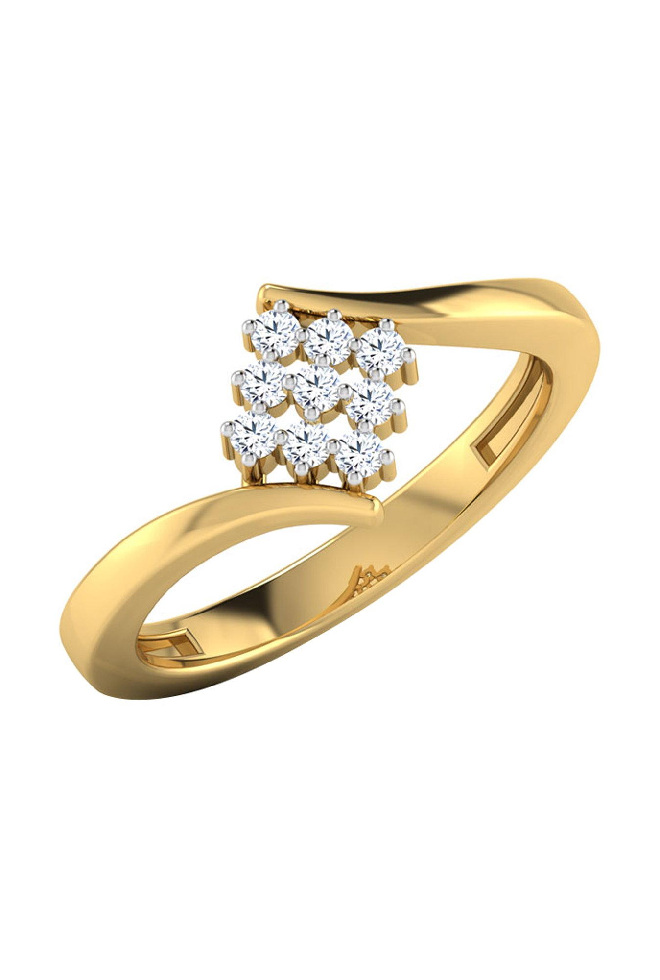 c673def51d053 Buy CaratLane Evelyn 18k Gold & 0.098 ct Diamond Ring Online At Best ...