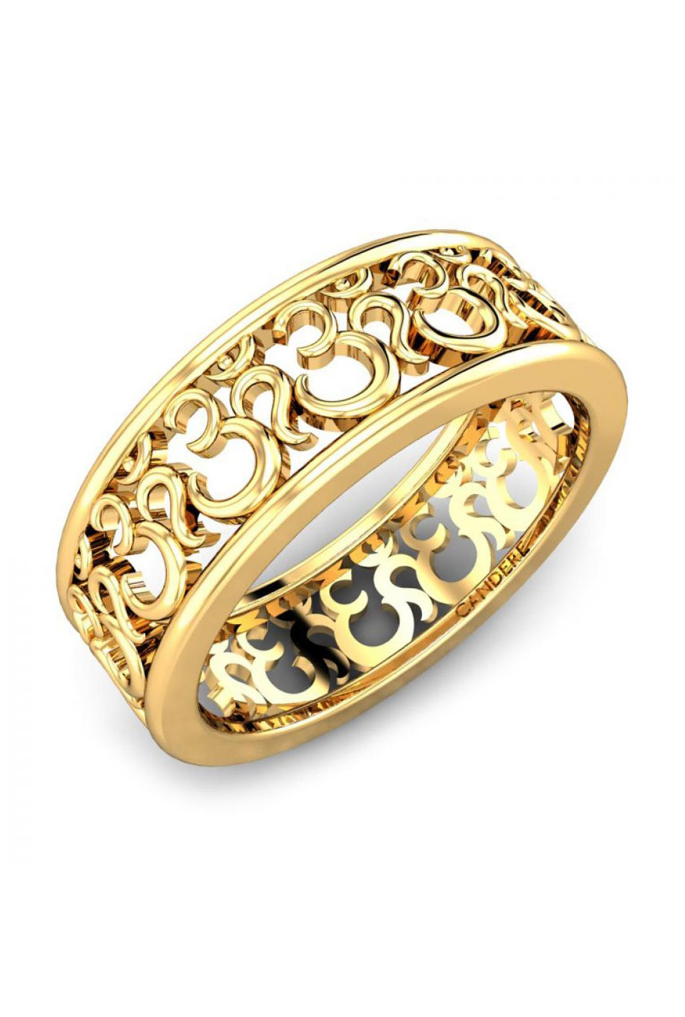 3788adf55 Buy Candere by Kalyan Jewellers Om 22k Gold Ring Online At Best Price @  Tata CLiQ