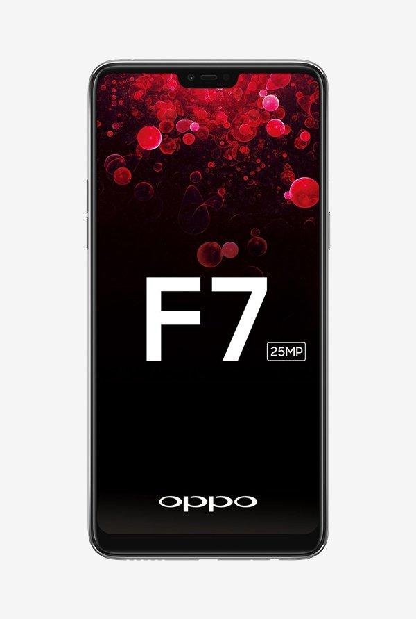 Oppo F7 64 GB (Silver) 4 GB RAM, Dual SIM 4G