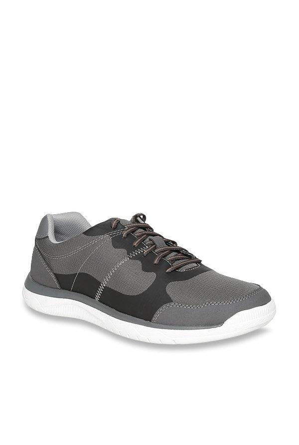 Clarks Votta Edge Grey \u0026 Black Sneakers
