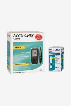 Top 8 Best Glucometers In India - Accu Chek Active Glucometer Black TATA CLiQ Deal