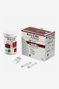 Top 8 Best Glucometers In India - Accu Chek Performa 100 Glucometer Strip Red/White TATA CLiQ Deal