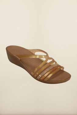 79fe527b83eb Crocs Huarache Mini Bronze Wedges for women - Get stylish shoes for ...