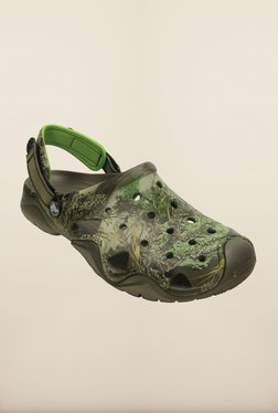 8562d5a6947 Crocs Swiftwater Camp Realtree Max Pewter   Green Clogs