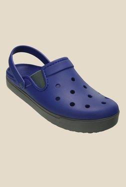 Crocs CitiLane Cerulean Blue & Grey Clogs