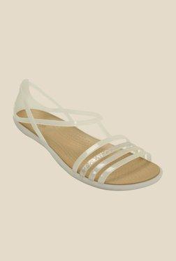a1c981227af6 Crocs Isabella Huarache Oyster Slide Sandals Best Deals With Price ...